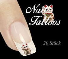 Nail Art Tattoo Maneki Neko Japan Glücksbringer 20 St. TL-03