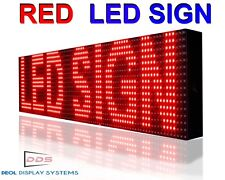 "7"" x 25""  RED  SIGN PROGRAMMABLE   OUTDOOR GRAPHIC SCROLLING IMAGE/ TEXT LED"