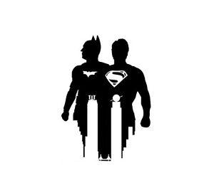 Batman vrs Superman MASSIVE  vinyl wall sticker  bedroom office van car  decal