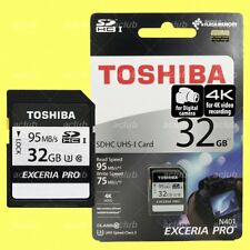Toshiba Exceria Pro N401 32GB SDHC UHS-I Class 3 4K Video Camera Memory SD Card