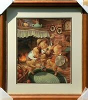 Three Little Pigs signed by Scott Gustafson LIMITED EDITION LITHOGRAPH 176/500