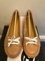 NINE WEST WOMENS NATURAL LEATHER NARROW FIT SHOES UK 3.5/4.5/5/5.5/6/6.5/7/7.5