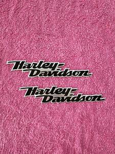 Brand New 2 pcs Harley Davidson Tank Emblem Softail Roadking Sportster Dyna