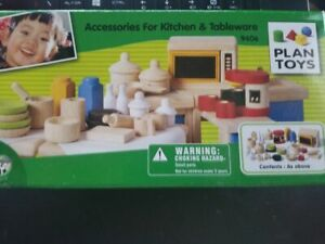 PLAN TOYS Accessories for Kitchen & Tableware Miniature Wooden furniture