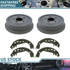 Rear Kit Brake Drums & Brake Shoes For 2005-2006 Chevrolet Equinox High Quality