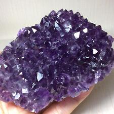 Natural amethyst, Uruguay amethyst cluster mineral specimen raw ore. 531g.