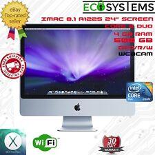 "Fast Cheap Apple iMac 8.1 24"" Core 2 Duo 3.06Ghz 4GB 500GB OS X 10.9.5 Mavericks"