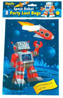 8 Space Robot Empty Party Bags - Toy Loot Gift Wedding/Kids Plastic
