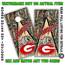 Camo Go Dawgs Cornhole Board Decal Wrap Set of 2 Cornhole Sticker