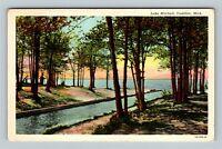 Cadillac MI, Lake Mitchell, Vintage Michigan Postcard