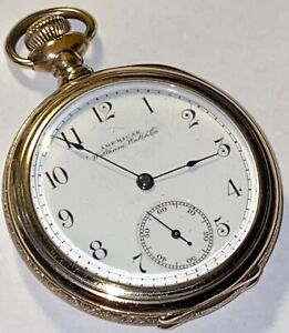 Waltham Model 1888 16s 11J Open Face Pocket Watch 53mm Working And Running