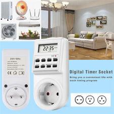 Timer Switch Socket Digital LCD Power Energy-saving Plug-in Programmable Socket&