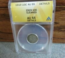 1919 Winged Liberty or Mercury Dime ANACS : grade AU55 Details : BUY-IT-NOW