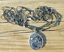 Silpada Stormy Night Necklace N1895 .925 Sterling Beaded Chalcedony NEW IN BOX