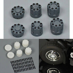 1:14 ABS Plastic Wheel Rim Nut Covers Set for Tamiya Tractor RC Model Car Truck