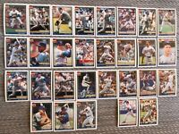 1991 MILWAUKEE BREWERS Topps COMPLETE Baseball Team Set 29 Cards YOUNT MOLITOR!
