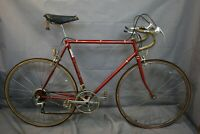 "1976 HKB Vintage Touring Road Bike 58cm Large 27"" Red Lugged Steel USA Charity!!"