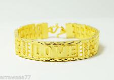 LOVE Bracelet  23K 24K THAI BAHT YELLOW GOLD Plated Bracelet Bangle