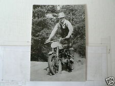 C ARTHUR LAMPKIN BSA MOTOCROSS MX EARLY 60'S VINTAGE POSTCARD MOTO 09-08