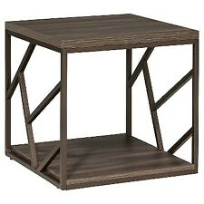 Imagio Home Lifestyles Studio Living Collection End Table, Weathered Gray - New