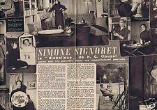 Coupure de presse Clipping 1956 Simone Signoret  (2 pages)