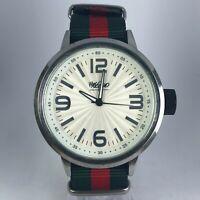 Mossimo Mens MM90295 Oversize Japan Movement Analog Quartz Watch Nylon Strap