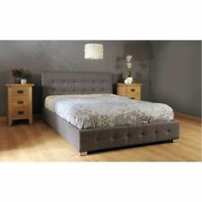 The Collection Grey Fabric Ottoman Double Bed Frame Double 4ft 6 Easy Assembly