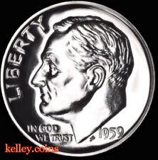 1959 10C GEM PRoof Roosevelt Silver Dime