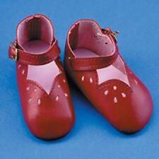 Chaussure bordeaux 6cm pour poupée ancienne moderne et vintage