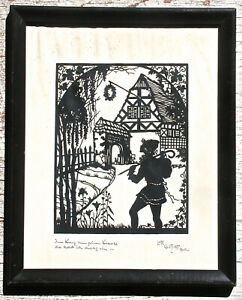 Lotte Gutzlaff Silhouette of Figure by a Cottage