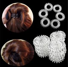6Pcs Hair Bands Elastics Bracelets Hair Ties Spiral Slinky Elastic Rubber Rope