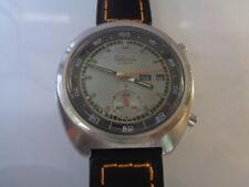 Seiko Chronograph Mens Watch Day & Date Auto 6139-7002 Silver Dial SN. 641972