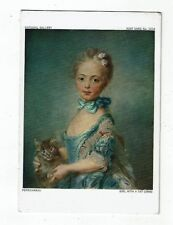 POST CARDS AS TITLED A NATIONAL GALLERY CARD  A GIRL WITH A CAT BY PERRONNEAU