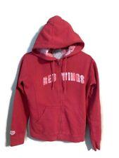Vintage DETROIT RED WINGS Hoodie Sweatshirt OLD TIME HOCKEY Women Medium Newbury