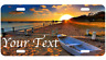 Custom Personalized  License Plate Auto Car Tag Sunset Beach With Free Text #3
