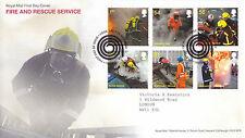 1 SETTEMBRE 2009 FIRE & RESCUE servizio Royal Mail FIRST DAY COVER TUBO SHS (B)