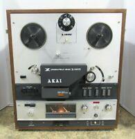 Akai X-360D Cross-Field Head 4-Track 2-Channel Reel to Reel Tape Deck Player