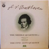 "FINE ARTS QUARTET Beethoven Middle Quartets: Opus 74 (""Harp"") & 95 (Serioso) LP"