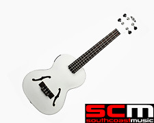 KALA Metallic White Archtop Tenor Ukulele KA-JTE/MTW Acoustic Electric