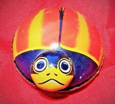 VINTAGE 1950'S KOYO TIN LITHO LADYBUG FRICTION TOY - MADE IN JAPAN - PAT. 207738