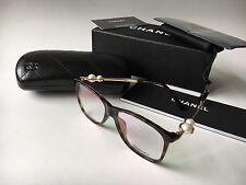 NIB CHANEL 3330-H Tortoise & Gold Pearl Eyeglasses Frames