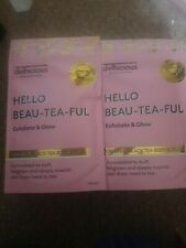 HELLO BEAU-TEA-FUL DELHICIOUS EXFOLITATE AND GLOW BLACK TEA BODY SCRUB 100GS x2
