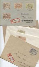 Lokalausgabe Cottbus 17-20 und 21-24 auf insgesamt 5 R-Briefen (B08553)