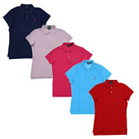 Ralph Lauren Womens Polo Shirt Skinny Fit Mesh Top Casual Blouse Xs S M L Xl New