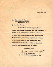 """JONATHAN M. """"not the General"""" WAINWRIGHT - TYPED LETTER SIGNED 04/14/1921"""