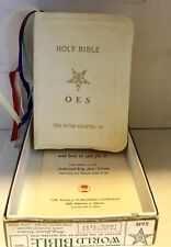 Vintage Holy Bible~OES 1950 World Publishing~KJV, White Imitation Leather, #561E