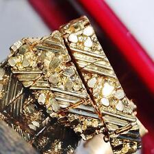 "14k yellow gold bracelet heavy 8.0"" nugget vintage handmade 29.6gr"