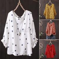 ZANZEA Women Casual Summer Shirt Tops Ruffles Oversized Loose Blouse T-Shirt Tee