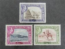 nystamps British Aden Stamp # 25/27 Mint Og H $67 U4y1388