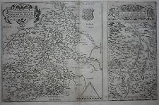 ORIGINALE Antico Mappa Francia, LOIRA, Bourges, Nevers, Clermont, Ortelius, c.1581